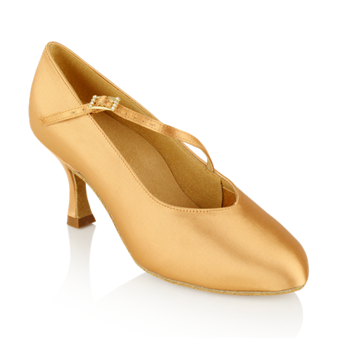 Obrazek 116A Rockslide | Flesh Satin | Standard Ballroom Dance Shoes