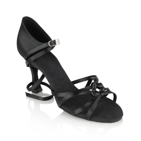 Obrazek 820-X Blizzard Xtra | Black Satin | Ladies Latin Dance Shoes | Sale