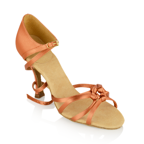 Immagine di 820-X Blizzard Xtra | Dark Tan Satin | Ladies Latin Dance Shoes
