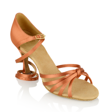 Immagine di 825-X Drizzle Xtra | Dark Tan Satin | Ladies Latin Dance Shoes