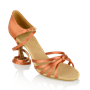 Picture of 825-X Drizzle Xtra | Dark Tan Satin | Ladies Latin Dance Shoes