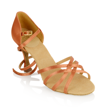 Imagen de 835-X Monsoon Xtra | Dark Tan Satin | Ladies Latin Dance Shoes | Sale