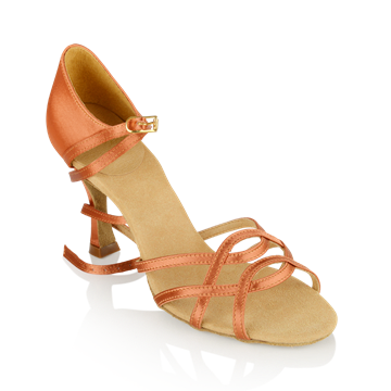 Immagine di 840-X Gobi Xtra | Dark Tan Satin | Ladies Latin Dance Shoes