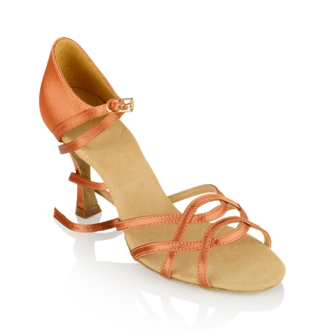 Obrazek 840-X Gobi Xtra | Dark Tan Satin | Ladies Latin Dance Shoes