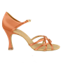 Picture of 840-X Gobi Xtra | Dark Tan Satin | Ladies Latin Dance Shoes