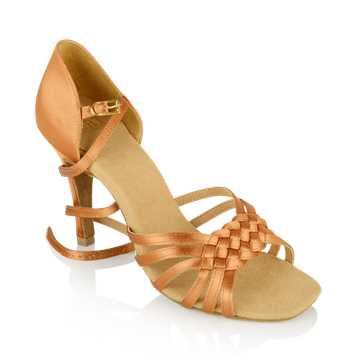Immagine di H869-X Moonglow Xtra | Light Tan Satin | Ladies Latin Dance Shoes