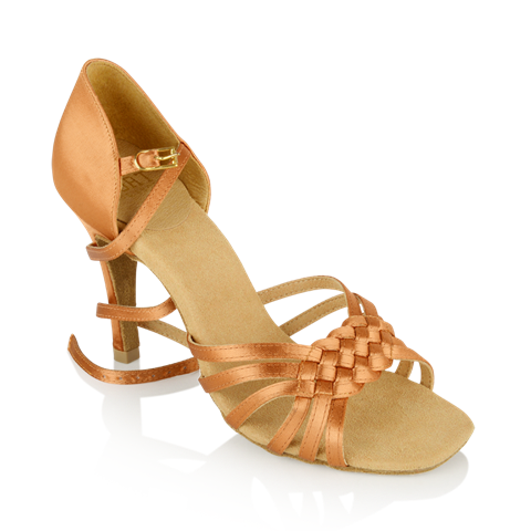 Imagen de H869-X Moonglow Xtra | Light Tan Satin | Ladies Latin Dance Shoes