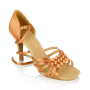 Obrazek H869-X Moonglow Xtra | Light Tan Satin | Ladies Latin Dance Shoes