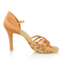 Picture of H869-X Moonglow Xtra | Light Tan Satin | Ladies Latin Dance Shoes