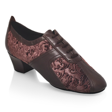 Imagen de 410 Breeze | Brown Leather/Pressed Velvet | Practice Dance Shoes | Sale