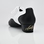 Immagine di 318 Adolfo Black Patent & White Leather  | Salsa Dance Shoes