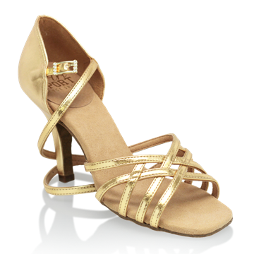 Picture of H860-X Kalahari Xtra | Gold (Reflective) | Ladies Latin Dance Shoes