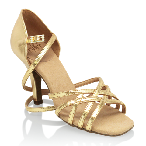 Imagen de H860-X Kalahari Xtra | Gold (Reflective) | Ladies Latin Dance Shoes