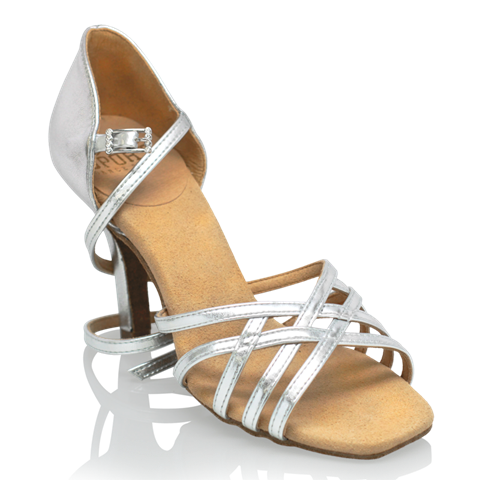 Immagine di H860-X Kalahari Xtra | Silver (Reflective) | Ladies Latin Dance Shoes