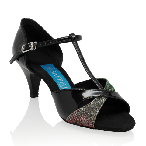 Obrazek Gemini - Black Patent/Red-Green Pearl | Sale