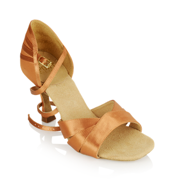 Picture of HC333-X Carmen 3 Xtra | Light Tan Satin | Stiletto Heel | Ladies Latin Dance Shoes | Sale
