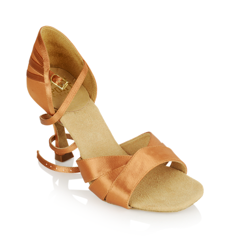 Bild von HC333-X Carmen 3 Xtra | Light Tan Satin | Stiletto Heel | Ladies Latin Dance Shoes | Sale