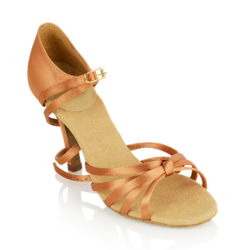 Imagen de 825-X Drizzle Xtra | Light Tan Satin | Stiletto Heel | Ladies Latin Dance Shoes | Sale