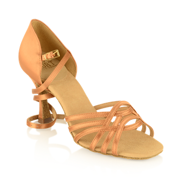 Immagine di H845-X Persephone Xtra | Light Tan Satin | Stiletto Heel | Latin Dance Shoes | Sale