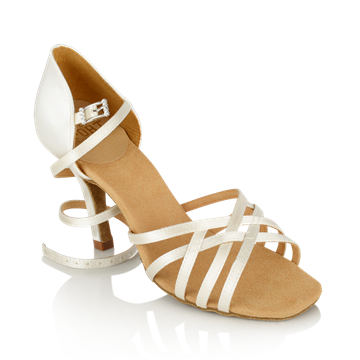 Obrazek H860-X Kalahari Xtra | White Satin | Stiletto Heel | Ladies Latin Dance Shoes | Sale