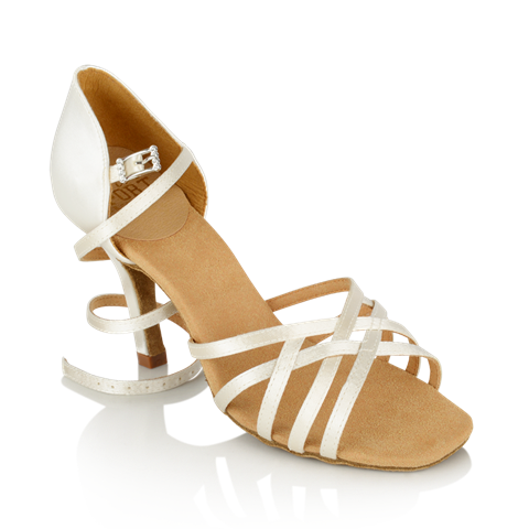 Immagine di H860-X Kalahari Xtra | White Satin | Stiletto Heel | Ladies Latin Dance Shoes | Sale