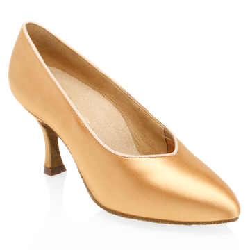 Obrazek 164A Antarctic | Flesh Satin | Standard Ballroom Dance Shoes | Sale