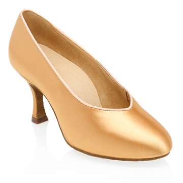 Immagine di 165A Arctic | Flesh Satin | Standard Ballroom Dance Shoes