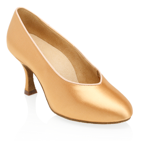 Imagen de 165A Arctic | Flesh Satin | Standard Ballroom Dance Shoes