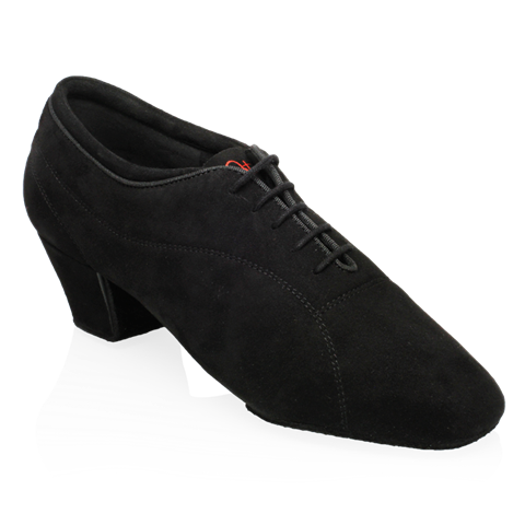 Obrazek BW111 Bryan Watson | Black Nappa Suede | Latin Dance Shoes