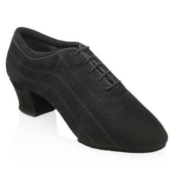 Obrazek H447 Zephyr | Black Nappa Suede Leather | Latin Dance Shoes