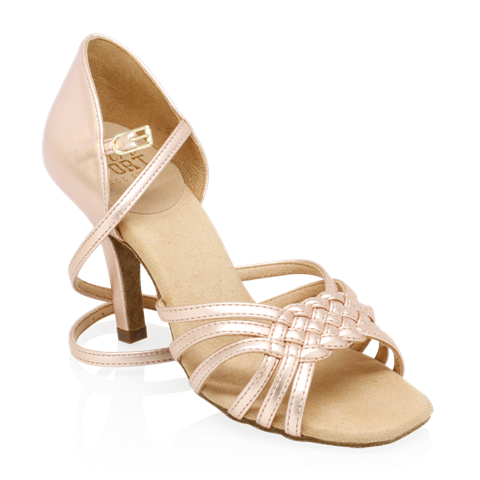 Picture of H869-X Moonglow Xtra | Rose Gold | Ladies Latin Dance Shoes