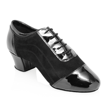 Obrazek H485 Caspian | Nappa Suede Leather/Patent | Latin Dance Shoes