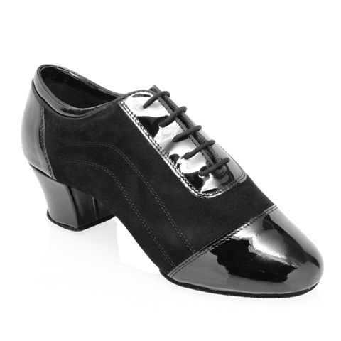 Imagen de H485 Caspian | Nappa Suede Leather/Patent | Latin Dance Shoes