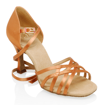 Imagen de H860-X Kalahari Xtra | Light Tan Satin | Ladies Latin Dance Shoes