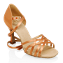 Obrazek H860-X Kalahari Xtra | Light Tan Satin | Ladies Latin Dance Shoes
