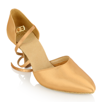 Picture of 103 Sirocco | Flesh Satin - Slim Heel | Smooth Dance Shoes | Sale
