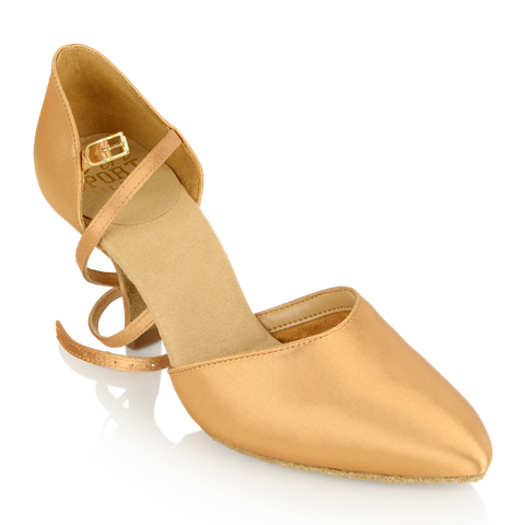 Imagen de 103 Sirocco | Flesh Satin - Slim Heel | Smooth Dance Shoes | Sale