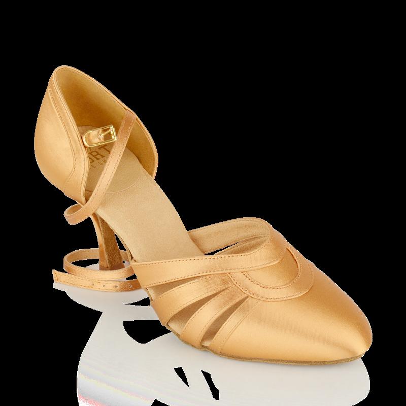 104 Nevada   Flesh Satin - Slim Heel