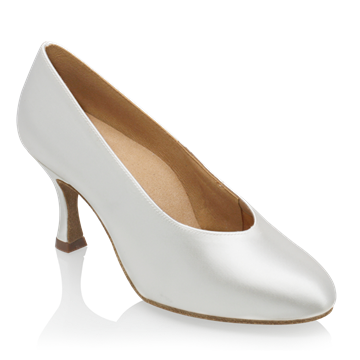 Obrazek 106A Landslide | White Satin | Standard Ballroom Dance Shoes
