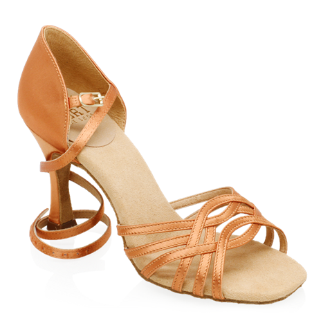 Obrazek H845-X Persephone Xtra | Light Tan Satin | Latin Dance Shoes