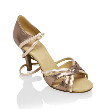 Immagine di 884-X Aura Xtra | Bronze Pattern and Rose Gold | Latin Dance Shoes | Sale