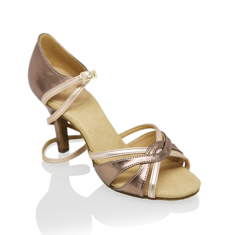 Picture of 884-X Aura Xtra | Bronze Pattern and Rose Gold | Latin Dance Shoes | Sale
