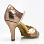 Obrazek 884-X Aura Xtra | Bronze Pattern and Rose Gold | Latin Dance Shoes | Sale