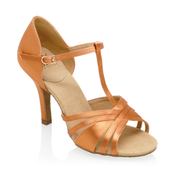 Obrazek 816-X Medusa | Light Tan Satin | Ladies Latin Dance Shoes