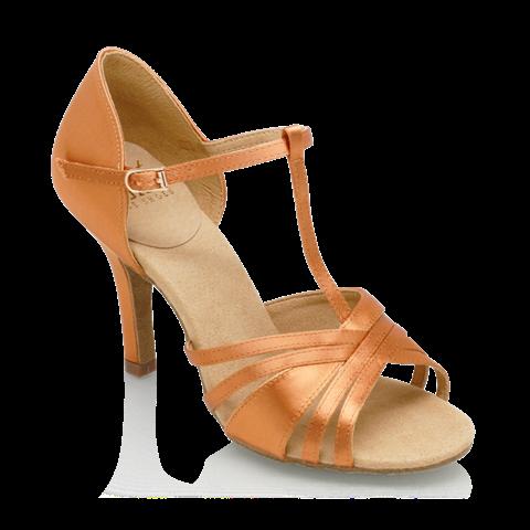 Bild von 816-X Medusa | Light Tan Satin | Ladies Latin Dance Shoes