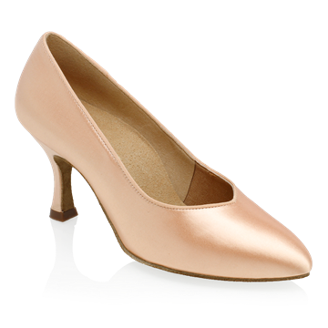 Imagen de 964A Claudia | Light Flesh Satin | Standard Ballroom Pointed Toe Dance Shoes