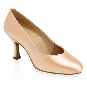 Obrazek 965A Claudia | Light Flesh Satin | Standard Ballroom Round Toe Dance Shoes