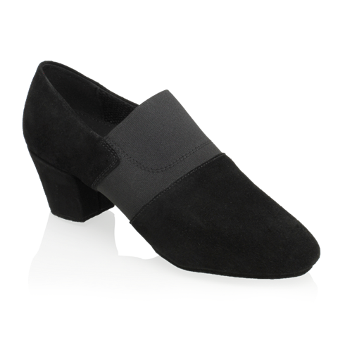 Obrazek 419 Luna | Black Nappa Suede Leather/Elastic