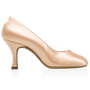 Picture of 965A Claudia | Light Flesh Satin | Standard Ballroom Round Toe Dance Shoes