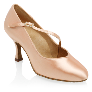 Imagen de 985A Sinai | Light Flesh Satin | Standard Ballroom Dance Shoes